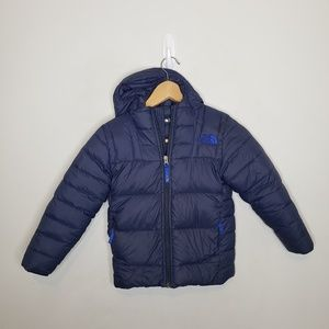 The North Face Kids Navy Blue Puffer Jacket